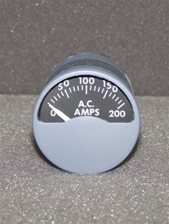 124-837, AC AMMETER, OVERHAULED BY B&G INSTRUMENTS, FRESH DUAL RELEASE 8130-3 TAG WITH 18 MONTH WARRANTY, OUTRIGHT OR EXCHANGE AVAILABLE, 124.837, 127837, AC AMMETER, AMMETER AC, 124-