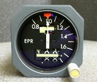 60B00302-11, ENG PRESSURE RATIO INDICATOR, OVERHAULED BY B&G INSTRUMENTS WITH A FRESH 8130-3 TAG AND 18 MONTH WARRANTY, OUTRIGHT OR EXCHANGE AVAILABLE, 