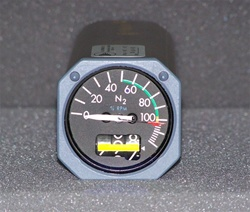 8DJ162LZL2, N2 TACHOMETER INDICATOR. OVERHAULED BY B&G INSTRUMENTS WITH A FRESH OVERHAUL TAG AND 18 MONTH WARRANTY. OUTRIGHT OR EXCHANGE AVAILABLE