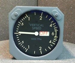 2070-03-1, VERTICAL SPEED INDICATOR, (10-61825-2), OVERHAULED BY B&G INSTRUMENTS AND 18 MONTH WARRANTY WITH A FRESH DUAL RELEASE 8130-3 TAG, READY TO GO!, OUTRIGHT OR EXCHANGE AVAILABLE. Since 1982 B & G Instruments, Inc.