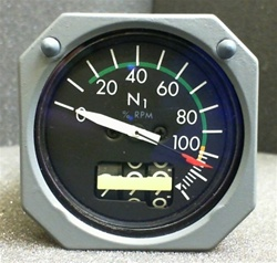 8DJ162LXL2, (60B90103-7) N1 TACHOMETER INDICATOR, OVERHAULED WITH A FRESH 8130-3 TAG BY B&G INSTRUMENTS AND 18 MONTH WARRANTY, READY TO GO!, OUTRIGHT OR EXCHANGE AVAILABLE, 